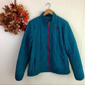 The North Face Women's XL Teal Blue Quilted Coat